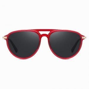 Red Circular Sunglasses for Men