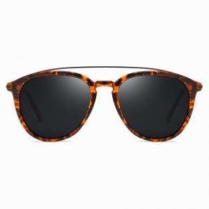 Tortoise Black Double Bridge Sunglasses for Men