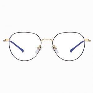 black gold wire frame eyeglasses
