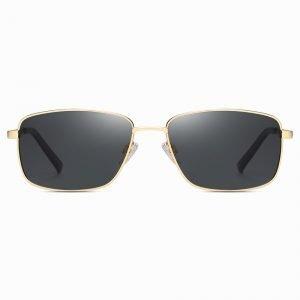 Black Gold Rectangle Sunglasses for Men