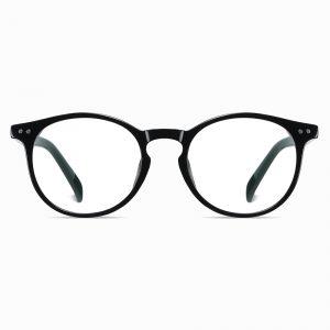 bright black round eyeglasses for women girls