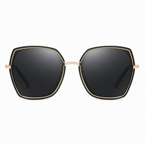 stylish square sunglasses with gold trim for women girls