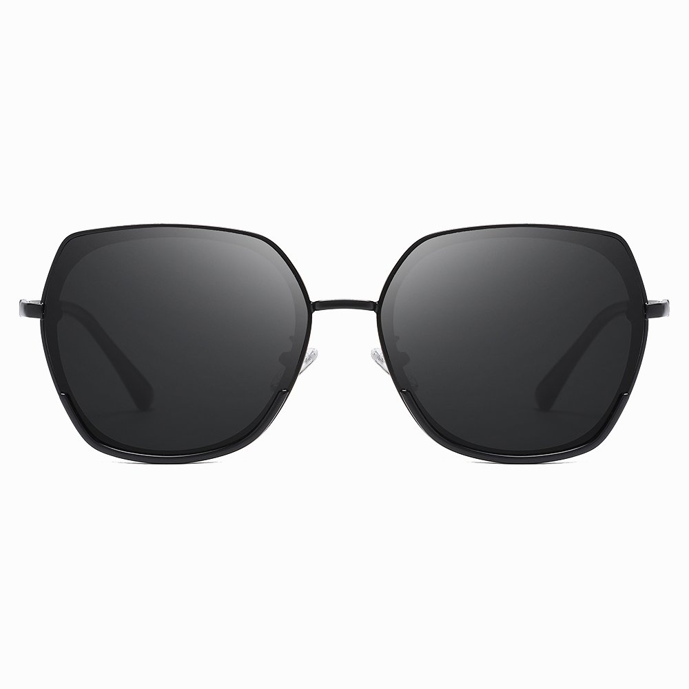 Black Square Round Sunnies