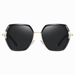 Black Gold Square Sunglasses for Women