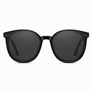 Black round sunglasses for women