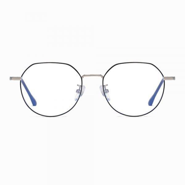 black round eyeglasses for women men, reading eyeglasses with blue light blocking lenses