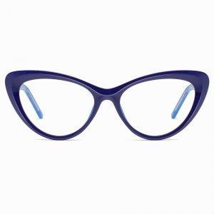 blue cat eye glasses prescription lenses