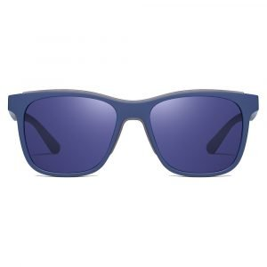 square blue tinted sunglasses with blue frames for men