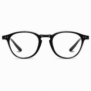 Bright Black Round Eyewear for Women