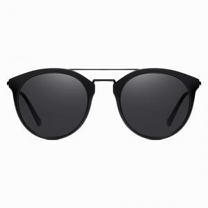 Bright Black Round Sunshade for Men Women