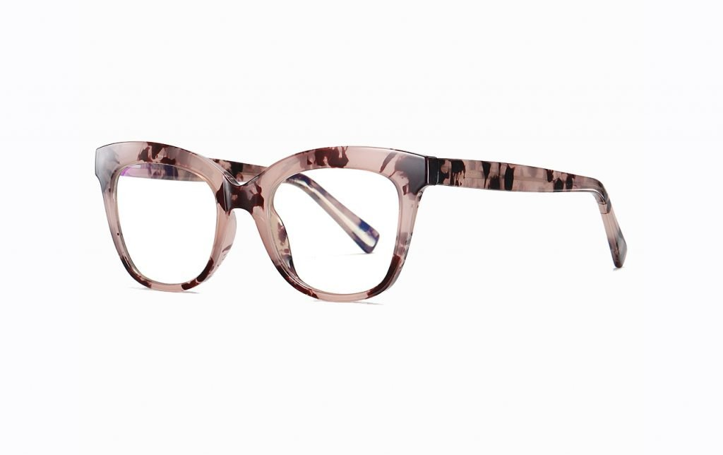 brown floral square reading eyeglasses for women
