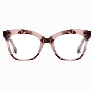 brown tortoise square eyeglasses