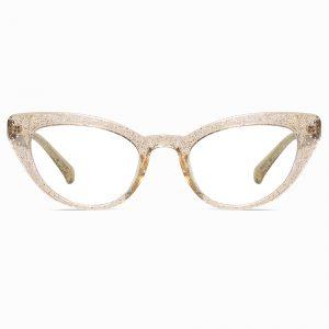 Champagne Cat Eye Glasses