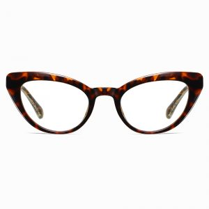 tortoise cat eye glasses with blue light blocking lenses