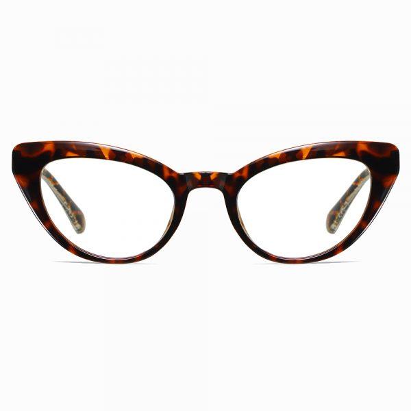 tortoise cat eye glasses with blue light blocking lenses