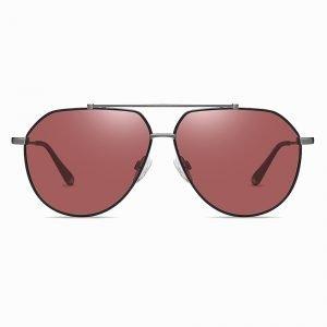 Claret Red Aviator Style Sunglasses for Men Claret Red Lenses