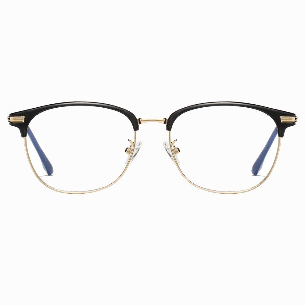 Gold Half Frame Eyeglasses for Women