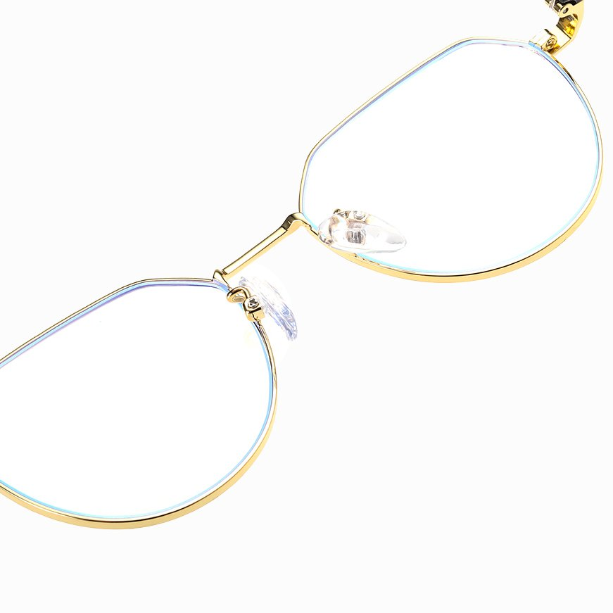 adjustable nose pad and gold frames