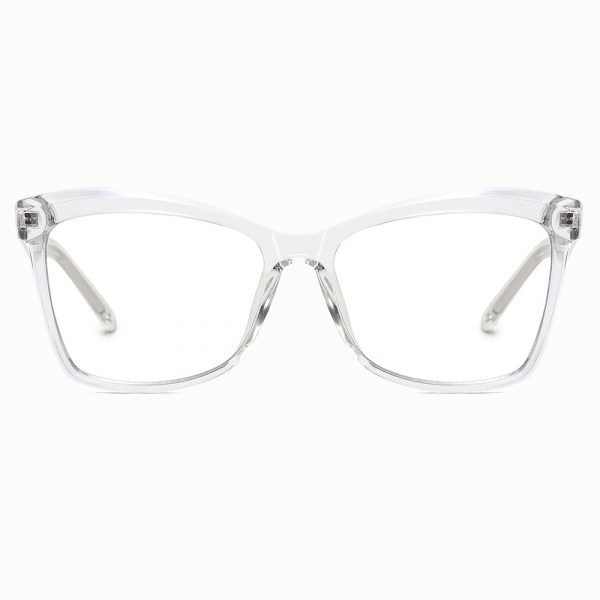 hipster square eyeglasses with transparent frames for women