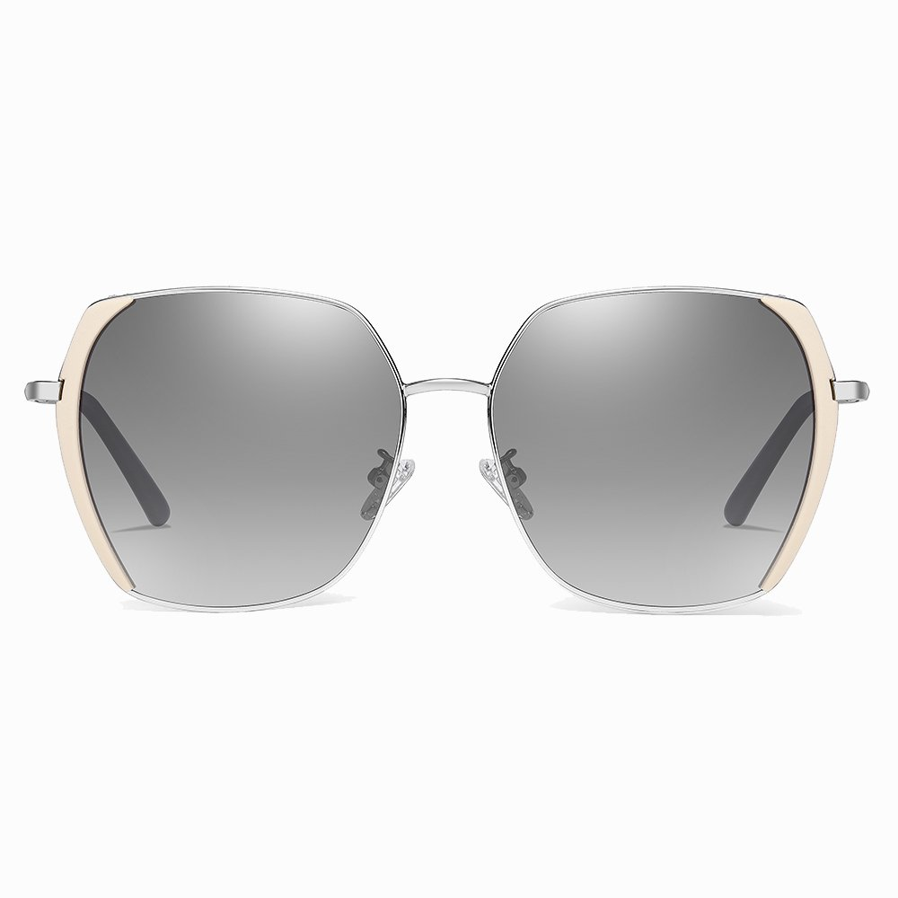 gray gradient sunglasses with pink trims