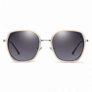 dark gray lenses with pink frames, geometric sunglasses