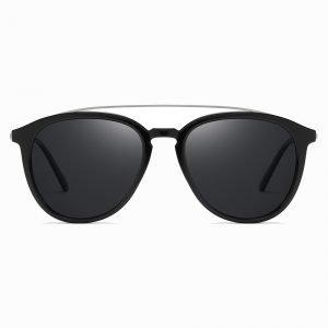 Black Double Bridge Sunglasses