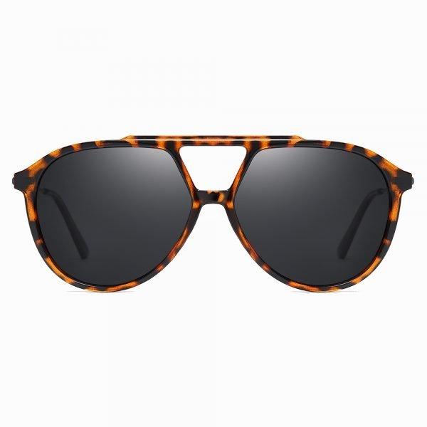 double bridge tortoise frame sunglasses for men women