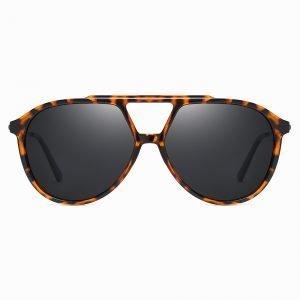Double bridge Tortoise Round Sunglasses for Women