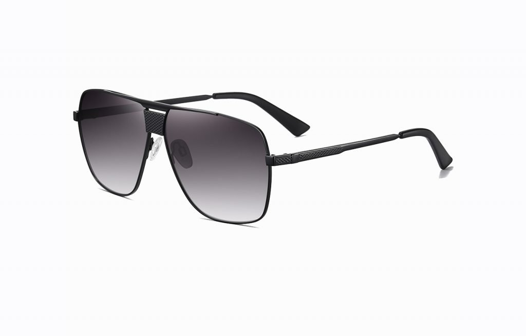 double bridge black gradient lenses for men