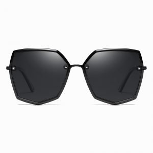 Full Black Geometric Sunglasses