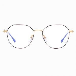 black frames round eyeglasses