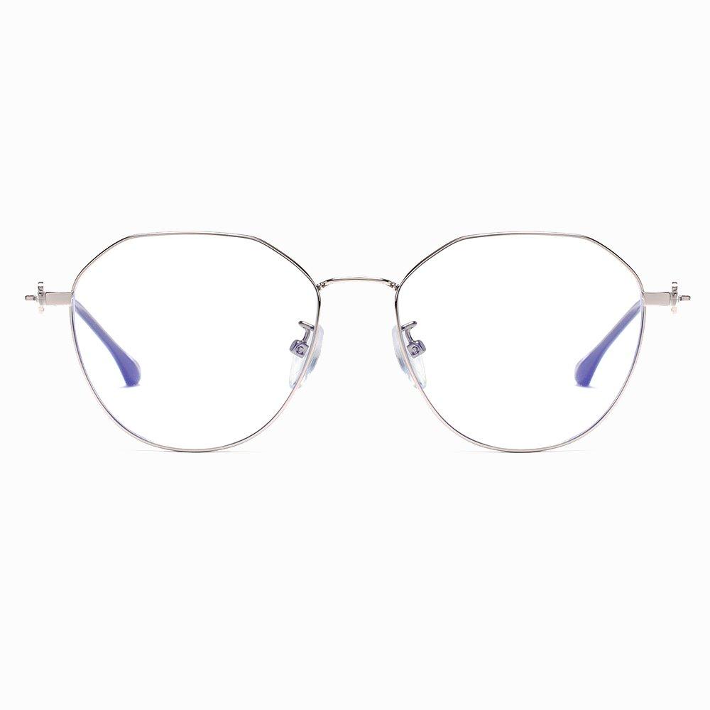 silver round eyeglasses for women