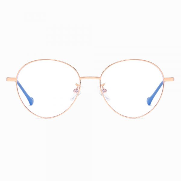 rose gold round eyeglasses