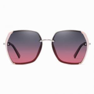 Purple Pink Square Sunglasses for Women