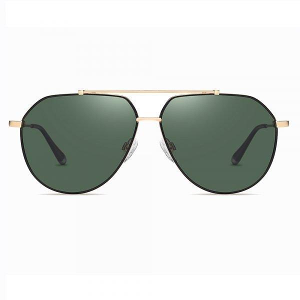 double bridge aviator sunglasses with green G15 lenses