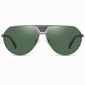 Green Aviator Sunglasses for Men Women
