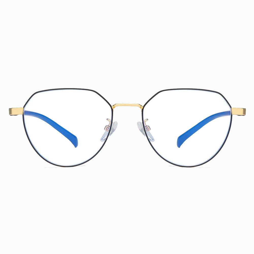 black round eyeglasses