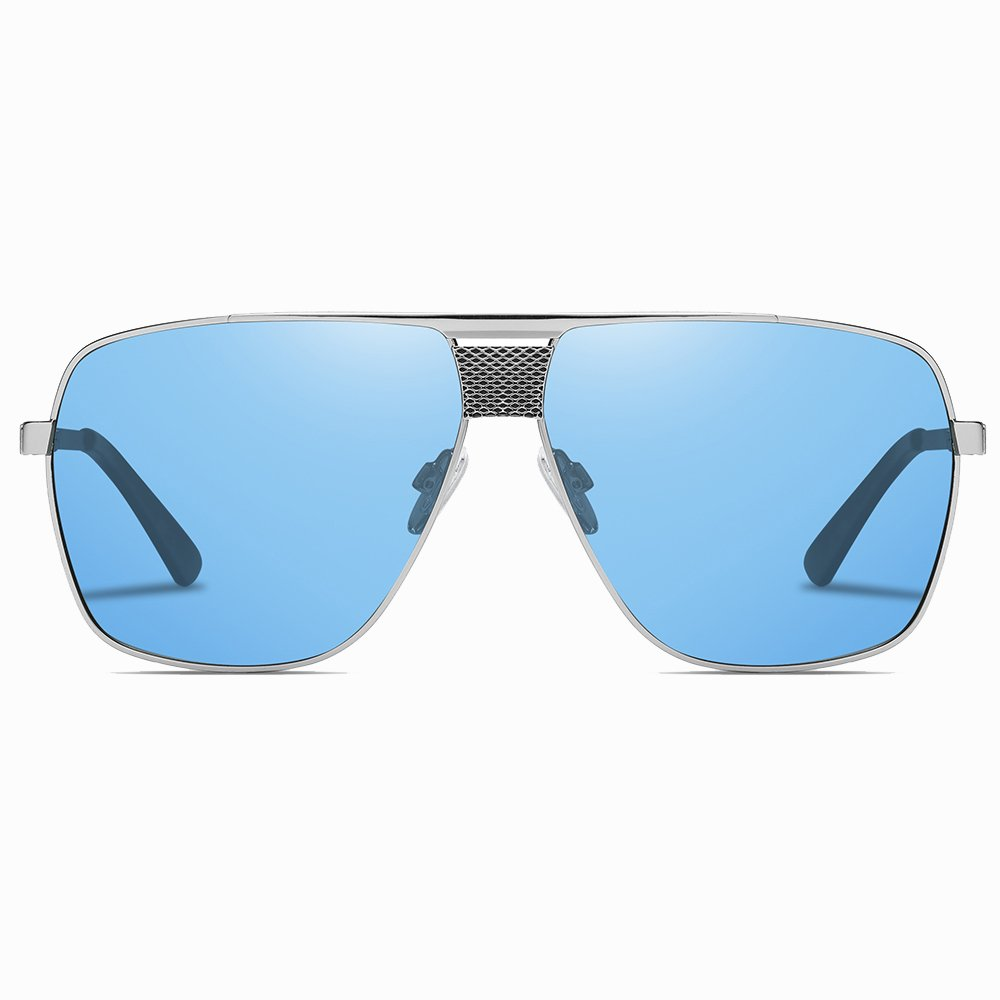 Oversized Blue Square Sunshade for Men