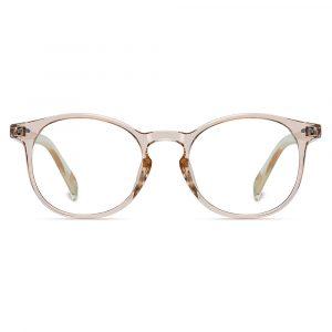 light brown round eyeglasses for women girls