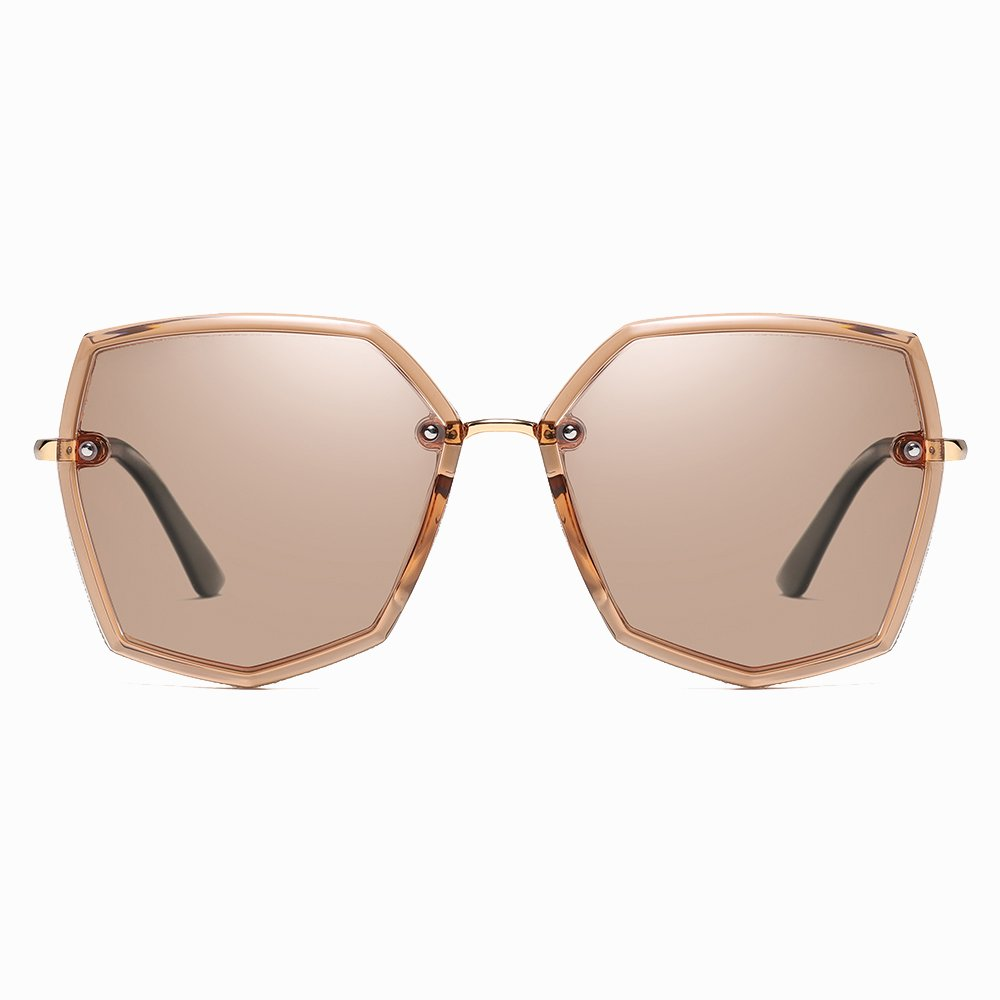 Brown Geometric Sunglasses