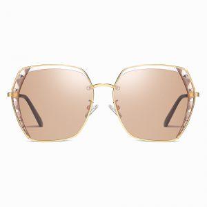 Light BRown Square Sunglasses for Women