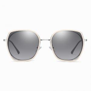 light gray lenses, pink frames, square sunshade for women girls