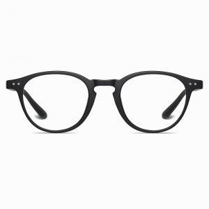 Matte Black Round Sunglasses