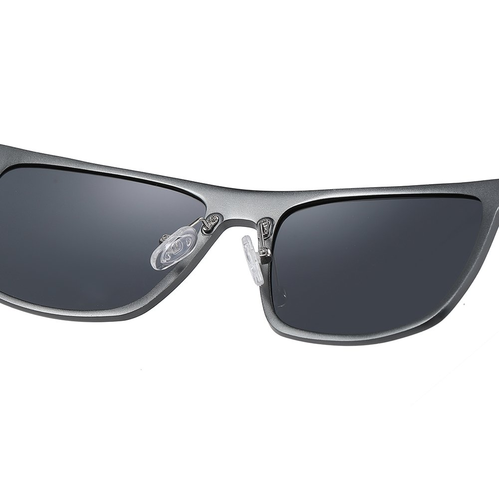 deep gray sunglasses with adjustable nose pad