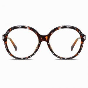 Oversized Round Eyeglasses Black for Women Men