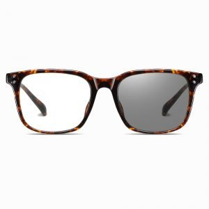 photochromic eyeglasses with square shape frame