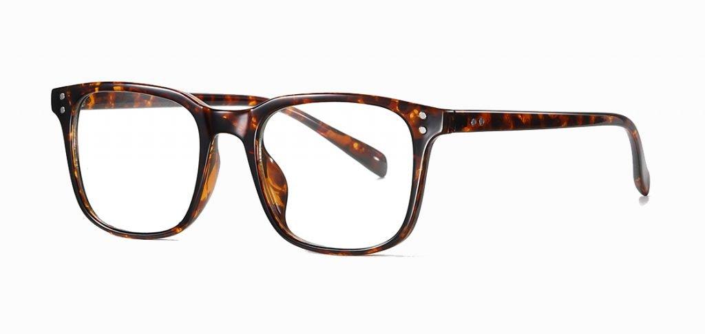 tortoise square photochromic eyeglasses