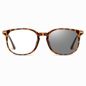 round photochromic eyewear for women, tortoise frames