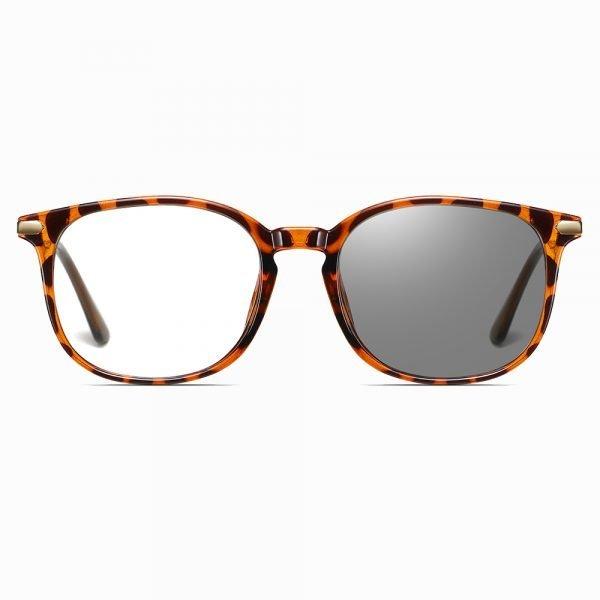 round photochromic eyewear for women, tortoise frames