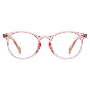 pink round eyeglasses